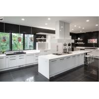 Buy cheap modern white solid wood custom cabinets new kitchen cabinet design product