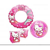 Hello Kitty Swimming Pool Floats Heavy Duty Viny Material 3 Piece Pool Toy Set