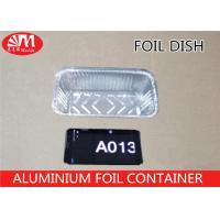 Buy cheap A013 Aluminum Foil Container Rectangle Shape Grill Pan 20.5cm x 11cm x 5.5cm 680ml volume For  Foods Packaging from wholesalers