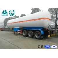 Buy cheap White Color LPG Semi Trailer , Propane Transport Trailers With Tri Axle from wholesalers
