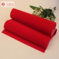 Buy cheap Non Woven Velvet Flock Fabric Red Plain For Jewellery Box / Case from wholesalers