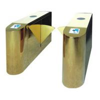 Quality Luxury Gold Flap Gate Turnstile Barrier Security Access Control Highend Star Hotel Offices for sale