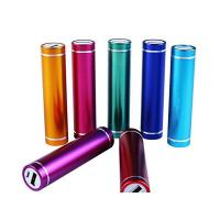 China 2600mAh Aluminum Lipstick Power Bank Cylinder Portable Charger 18650 Battery on sale