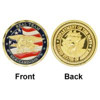 Buy cheap 24k Gold Plated Coin USA Navy Seal Team Commemorative Coins Wholesale Uncirculated Custom Metal Coins from wholesalers