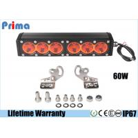 Buy cheap 11.5inch 60W Amber Led Work Light Bar Spot Flood Rescue Vehicle Lights Driving Lamp For OffRoad from wholesalers