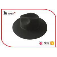 Buy cheap Common Black Ribbed Band Wool Felt Hat Round Girl Felt Hunting Hat from wholesalers