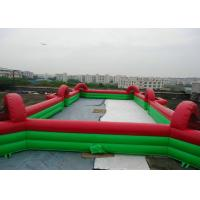 Buy cheap Commercial Inflatable Football Game / Soccer Field Sports Equipment With 0.45mm - 0.55mm PVC from wholesalers