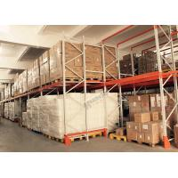 Buy cheap Push Back Rack / Oranger Pushback Racking Maintenance Free With Pallet Carts Carriages from wholesalers