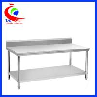 Rolling Stainless Steel Work Table Commercial Kitchen
