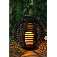 Buy cheap Rattan Solar Garden Lights Solar panel 2V / 40MA Feature Decorating and lighting Material Plastic Support OEM/ODM china from wholesalers