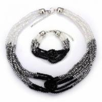Buy cheap 2011 Crystal LAB Crystal Jet Crystal Necklace and Bracelet ,Jewelry sets--PS0015 from wholesalers
