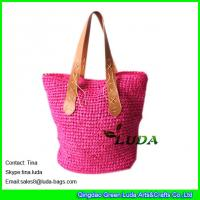 Buy cheap LUDA Women Handbags Summer Beach Large Tote Bag Crohet Paper Straw Bags from wholesalers