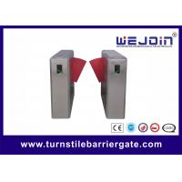 Buy cheap 900mm Width Electronic Flap Barrier Gate / Pedestrian Automatic Systems Turnstiles from Wholesalers