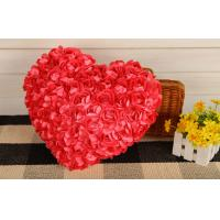 Buy cheap Creative Heart shape pillow rose flower design heart cusion doll great gift 35cm red product
