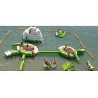 Buy cheap Blue With White Inflatable Water Boucer With Slide For Water Sport Games product
