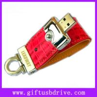 Buy cheap High quality Tiger stripes leather usb memory with customized logo 4G/8G flash usb disk from wholesalers