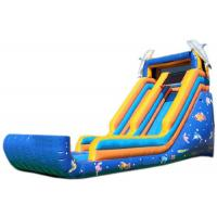 Buy cheap Blue Sea Fish Commercial Blow Up Water Slides Professional Fixation Design from wholesalers