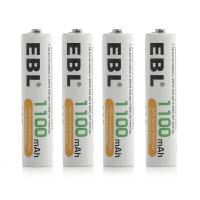 Buy cheap AAA 1100mAh High Capacity Rechargeable Cell Batteries Ni - MH 1.2V 4 Pack 1200 Cycles from wholesalers
