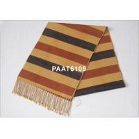 Buy cheap 120G Women Stripes Woven Silk Scarf With Georgette Or Twill from wholesalers