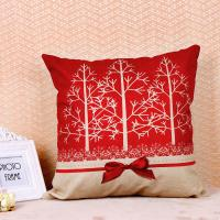 Buy cheap Tree Pattern Printed Cushion Covers , Comfortable Couch Pillow Covers Cotton Flax from wholesalers