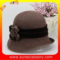 Buy cheap Fashion hot sale cloche hats for ladies,100% Australia wool felt hats for women from wholesalers