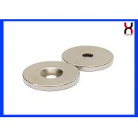 Buy cheap NdFeB Countersunk Rare Earth Magnets Neodymium Magnet With One Hole / Two Holes from wholesalers