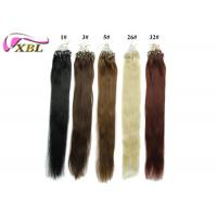 Buy cheap 100% Remy Micro Ring Loop Virgin Human Hair Extensions , Brazilian Remy Hair For Lady from wholesalers