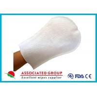 Buy cheap Arc Shape Exfoliating Bath Gloves For Patients Small Dot Ultra Thick from wholesalers