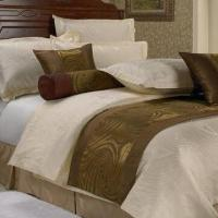 Buy cheap Jacquard hotel bedding set, customized sizes and patterns are accepted from wholesalers