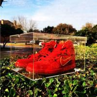 Buy cheap Promotional large acrylic sneaker display box for Nike acrylic sneaker display case from wholesalers