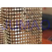 Buy cheap 3 Mm Dark Gold Metal Flake Fabric Shrink Proof Interior Decoration Table Cloth product