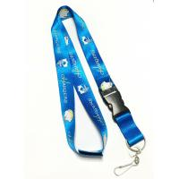 Buy cheap Colorful Shiny Flat Nylon Personalised Neck Strap With Velcro / Safety Buckle from wholesalers