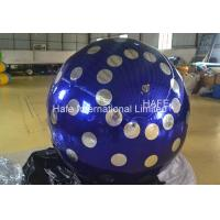 Buy cheap 4 M Inflatable Lighting Decoration , 13ft Flying Helium Inflatable Mirror Ball from wholesalers