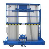 Buy cheap Insulative 12 Meters Lifting Height Quadruple Mast Aerial Work Platform 300Kg Load from wholesalers