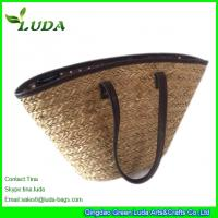 Buy cheap LUDA Large Seagrass Straw Handbags With PU Binding from wholesalers