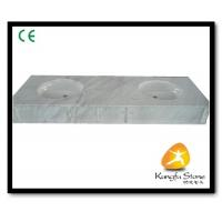 Buy cheap Xiamen Kungfu Stone Ltd supply White Marble Bathroom Countertops In High quality from wholesalers