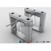 Buy cheap Fingerprint Reader Tripod Turnstile Gate , Full 304 Stainless Steel Turnstile Pedestrian Security Gates product