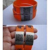 Buy cheap Unique QR Code on Stainless Steel Metal Custom size QR code ID Plate QR Code Bracelet from wholesalers