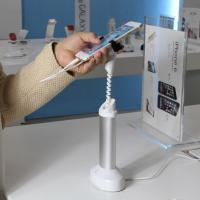 Buy cheap COMER Security mobile phone metal display stands with gripper from wholesalers