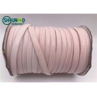 Buy cheap Good Tearing Strength Pink Silicone Elastic Tape / Unbreakable Rubber Bands For Jumpsuits from wholesalers