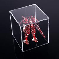Buy cheap Square Counter Acrylic Display , Case Plastic Stand Clear Storage Box Jars With Lids product