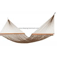 Buy cheap Soft Spun Deluxe Polyester Rope Hammock , Extra Wide Brown Portable Mesh Hammock from wholesalers