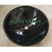 Buy cheap Natural Nero Countertop Sink Basin Marquina Marble Sink Black Wash Bowls Round Basins from wholesalers