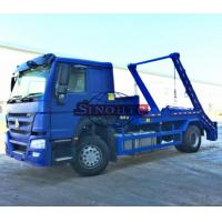 Buy cheap 4x2 HOWO 10m3 / 12m3 Swing Arm Garbage Truck , Skip Loader Garbage Collection Truck from wholesalers
