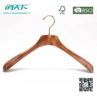 Buy cheap Betterall High-end Burlywood Wooden Coat Hanger with Golden Hook from wholesalers