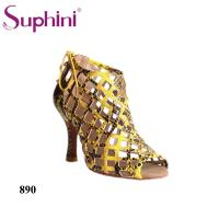 Buy cheap Suphini High Heel Snake Women Party Lantin Dance Shoes Boots from wholesalers