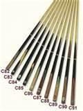 Buy cheap 4 point, ash shaft, very straight grain 1 piece snooker cue for play snooker and club from wholesalers