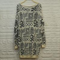 Buy cheap Long Jacquard Fair Isle pattern Ladies Pullover Sweaters , Alpaca Sweater from wholesalers
