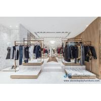 Buy cheap Fashion Brand clothing store Design Stainless steel display racks with Shelves and Reception Leisure Furniture couch from wholesalers