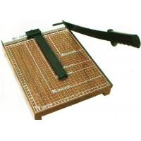 Buy cheap Simple Guillotine Paper Cutter Wooden Base With Carbon Steel 45 Sharp Blade from wholesalers